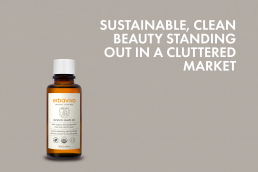 sustainable beauty standing out in a cluttered market